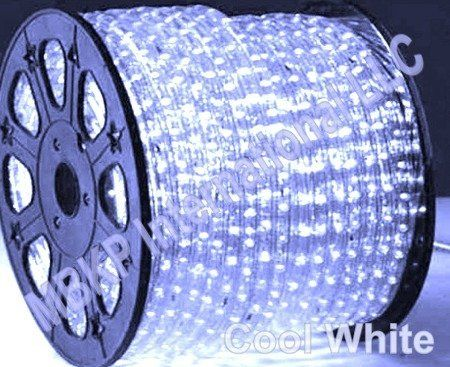 COOL WHITE LED Rope Lights Auto Home Christmas Lighting 10 Meters