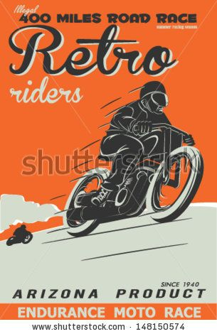 Vintage Race Car And Motorcycle For Printing Vector Old School Race Poster Retro Race Car Or Motorbike Vector P Vintage Racing Vintage Motorcycle Posters Retro