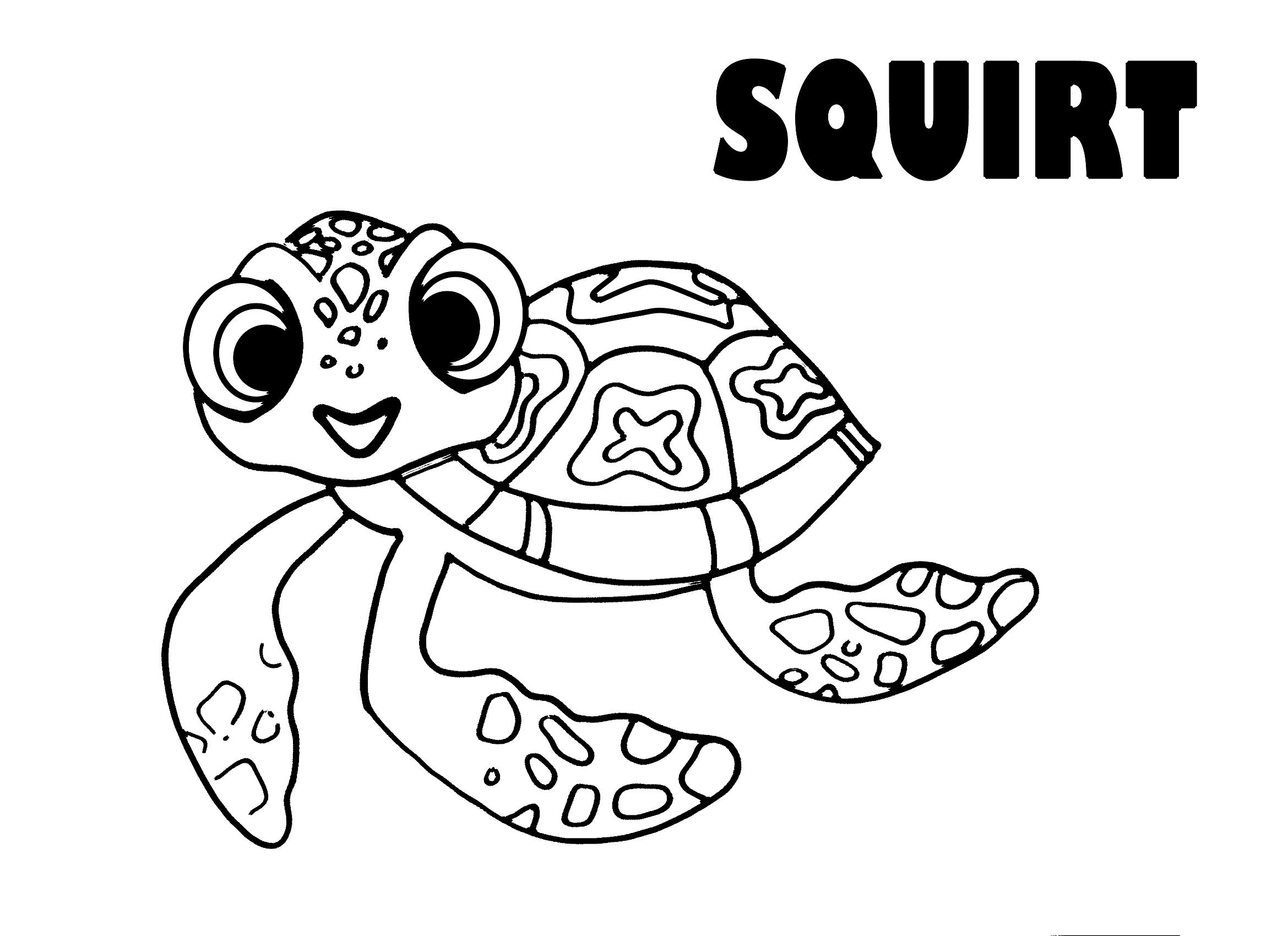 Squirt from Finding Nemo coloring page | Pinterest | Finding nemo ...