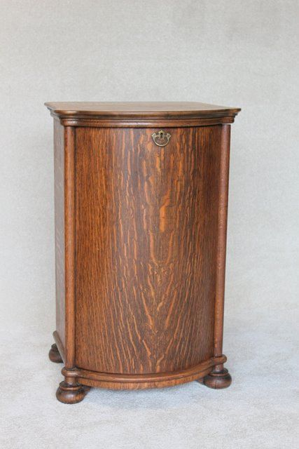 Just look at that grain! Record Cabinet ... - Antique Tiger Oak Victrola Record Cabinet Record Cabinet, Wood