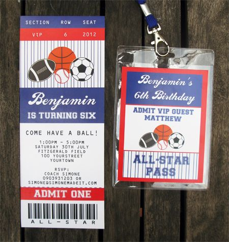 All Star Ticket Invitations The o\u0027jays, Birthdays and Baseball - ticket invitation template