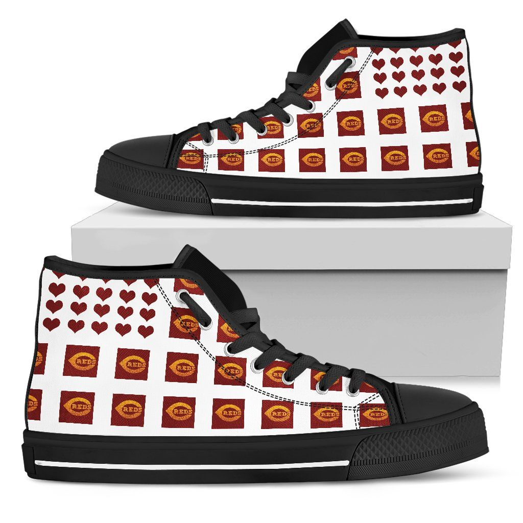 Cute cincinnati reds high top shoes chocolate lovely gift