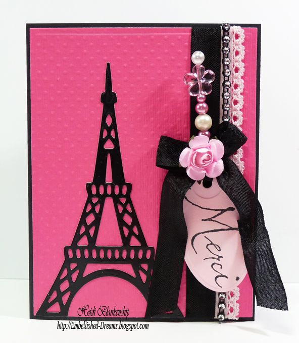 Embellished Dreams Merci Paris Card Paris Cards Gift Tag Cards Diy And Crafts
