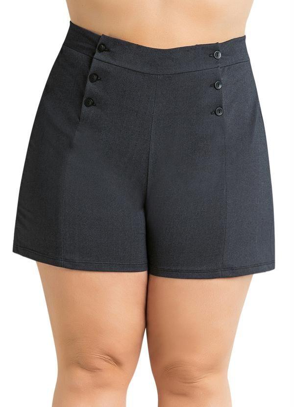 5f666e255 Short com cintura alta e botões Plus Size