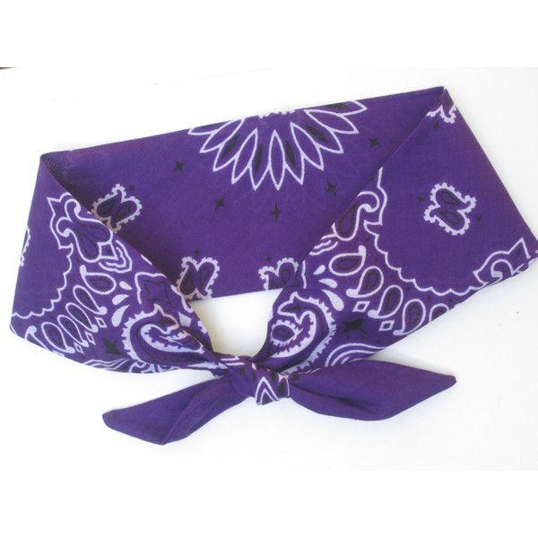 Purple Bandana Headband Purple Dolly Bow Headband Purple Headband Etsy...  ( 10) ❤ liked on Polyvore featuring accessories 2d237594e08