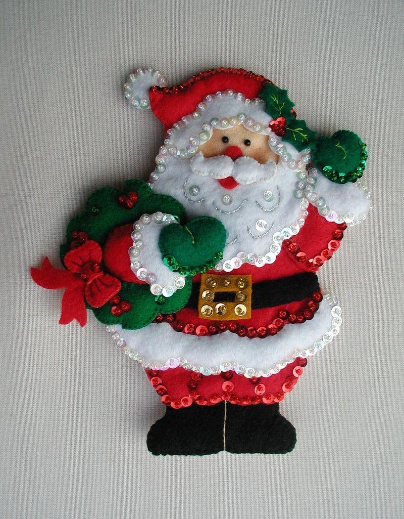 Un papa noel de decoracion en navidad manualidades para - Adornos de navidad manualidades para ninos ...