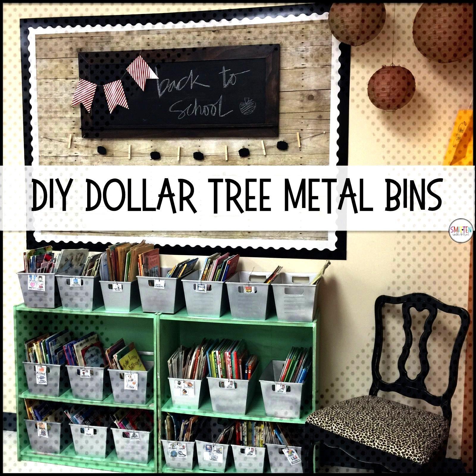 DIY Dollar Tree Metal Locker Bins farmhouse classroom -  DIY Dollar Tree Metal Locker Bins farmhous