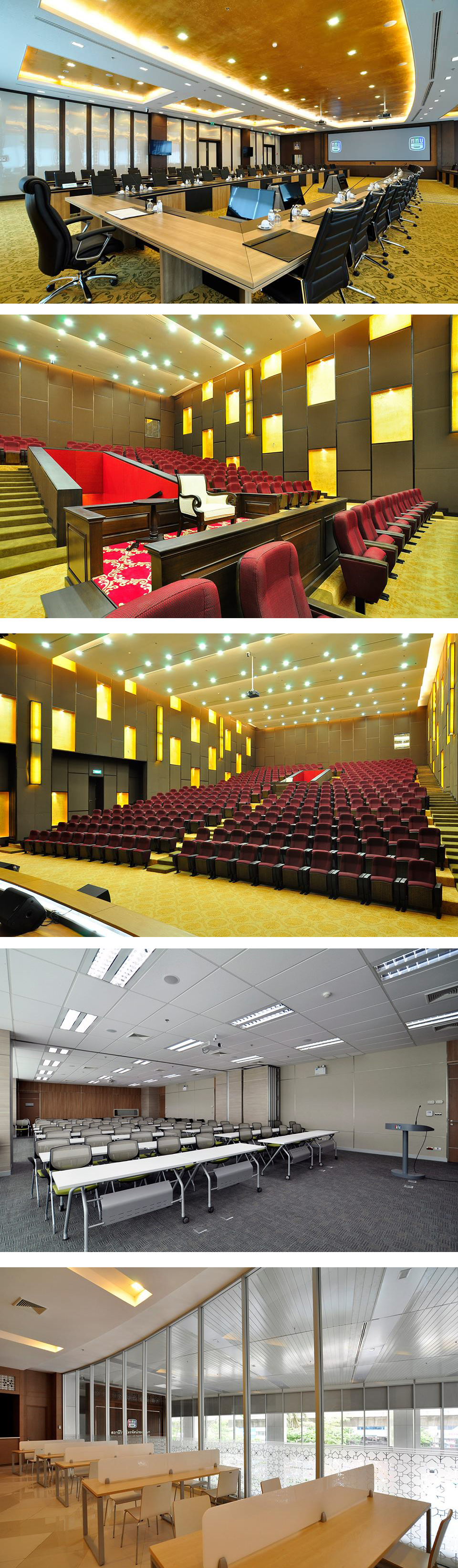 A Big Table In Meeting Room At Royal Thai Army Radio And Television Channel 5 Designed By Practika Was Particularly Customized In Dimensions Besi Meeting Room