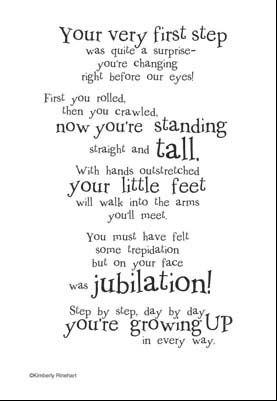First Steps Poem Click Image To Close Baby Scrap Book Ideas