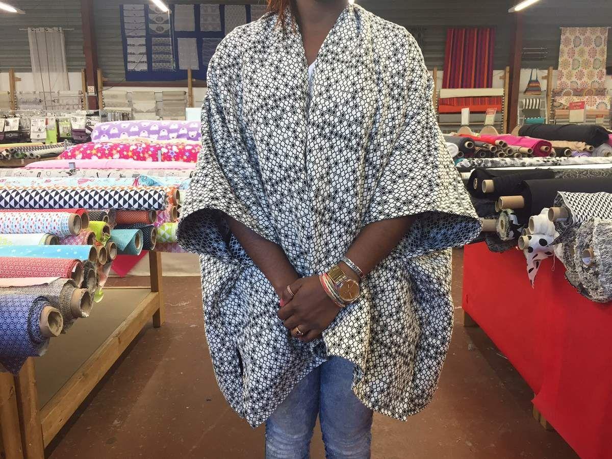 Relativ Bonjour, Voici le tuto du Poncho Kimono à réaliser dans la matière  NU61