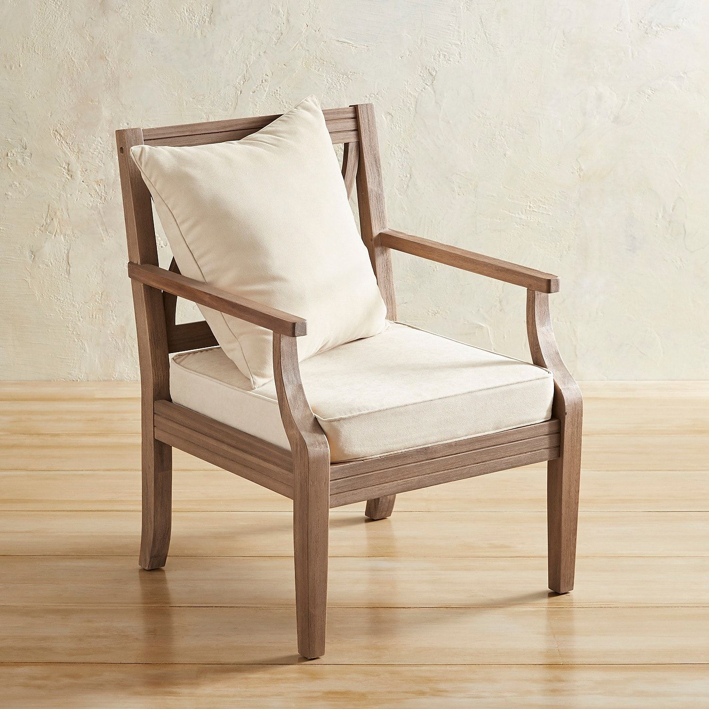 Aria gray acacia wood armchair