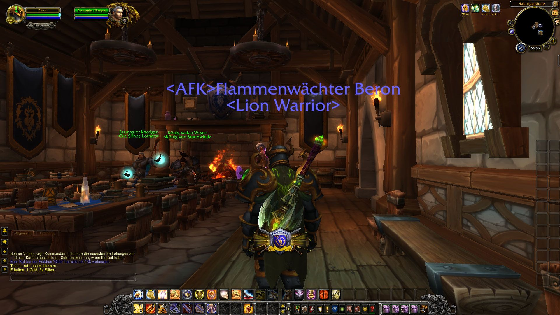 King Varian will always be in our heart... or in my garrison #worldofwarcraft #blizzard #Hearthstone #wow #Warcraft #BlizzardCS #gaming
