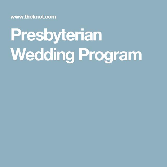 Presbyterian Wedding Program Samples Ceremony Programs Religious Paper