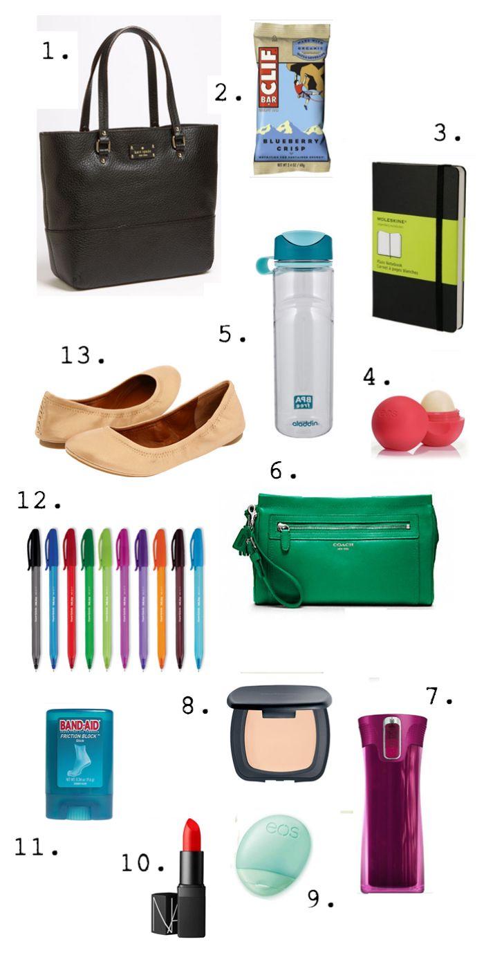 Work bag essentials | university | Work bag essentials ...