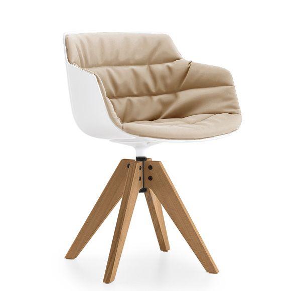 MDF Italia FLOW SLIM ARMCHAIR Sessel mit Füßen esszimmer stühle - ausergewohnliche klassische mobel carpanelli