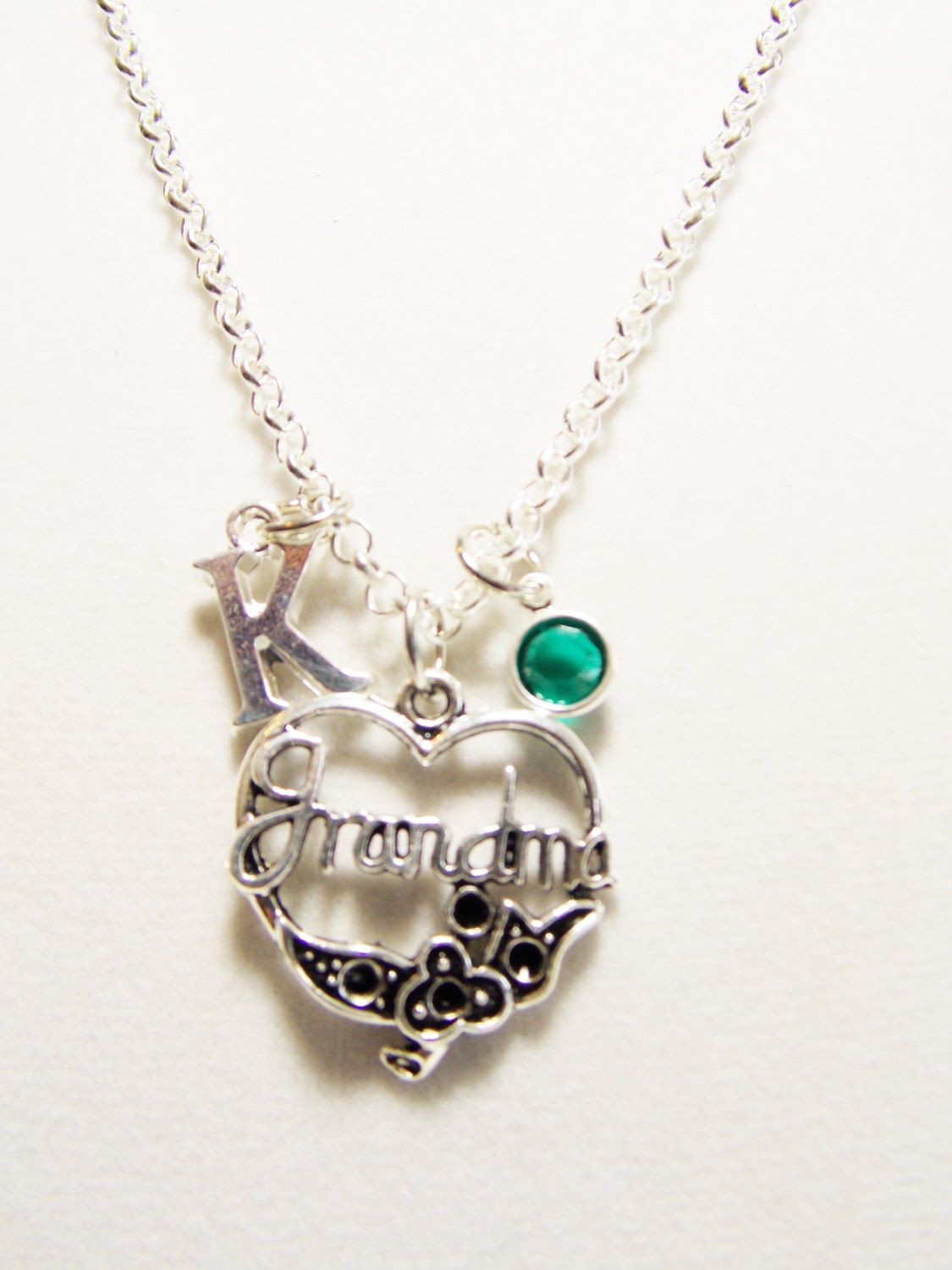 Grandmother gift grandma necklace personalized