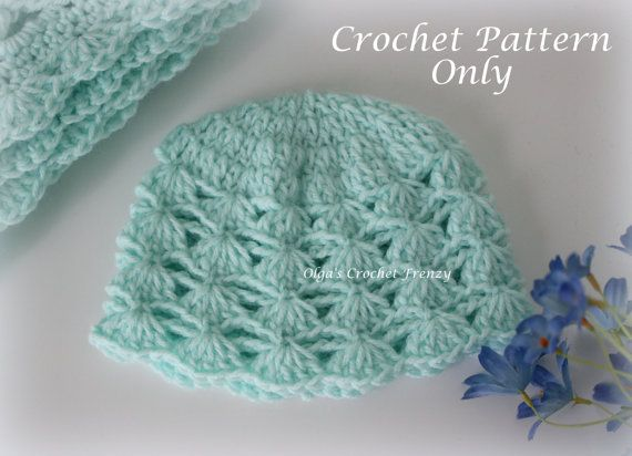 Shells and Chains Baby Hat, Crochet Pattern, Easy to Make, Instant ...