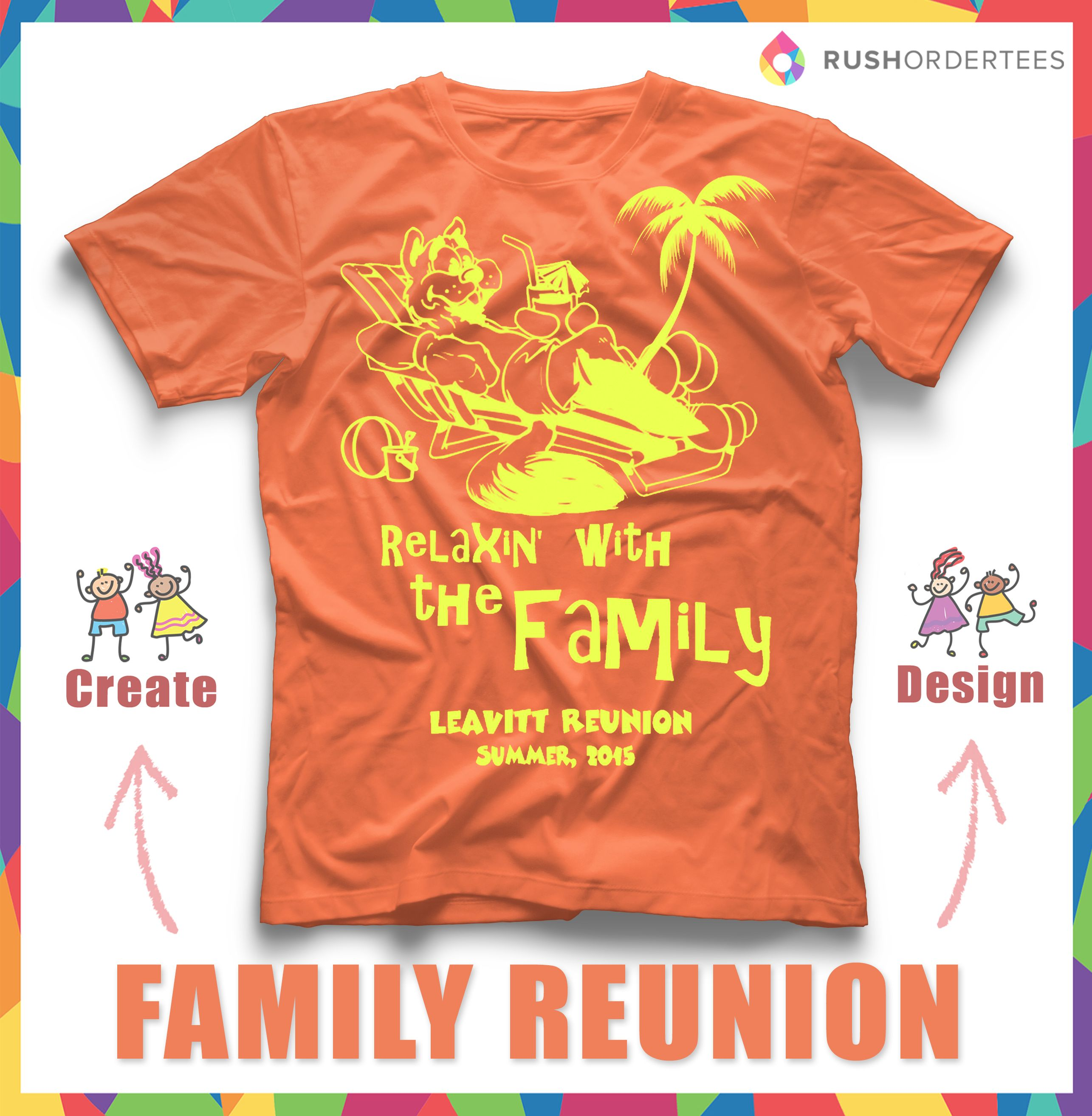 Family Reunion Summer Vacation Custom T shirt Design