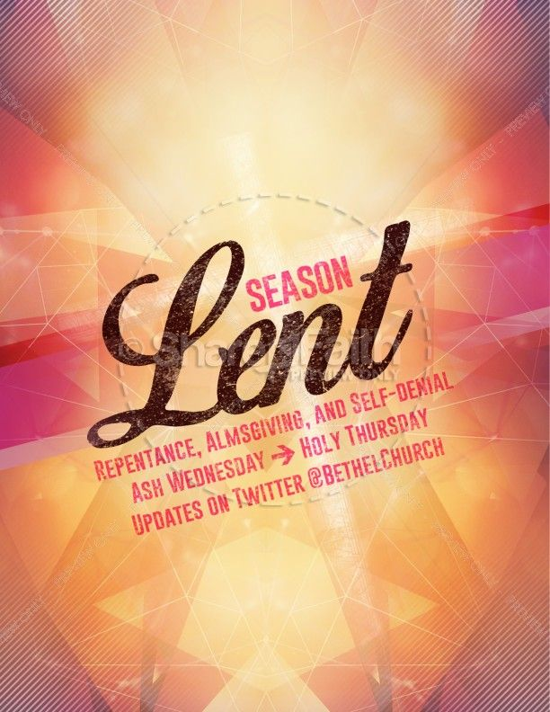 Season Of Lent Religious Flyer  Lent Flyer Template And Template
