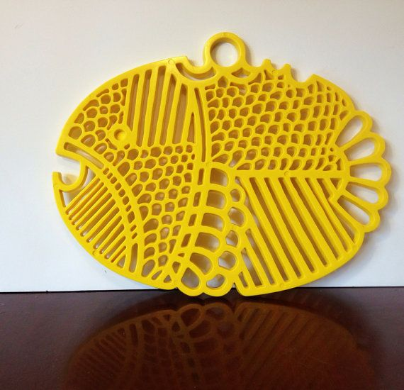 MidCentury Dansk Yellow Trivet - I want this on my Thanksgiving table..