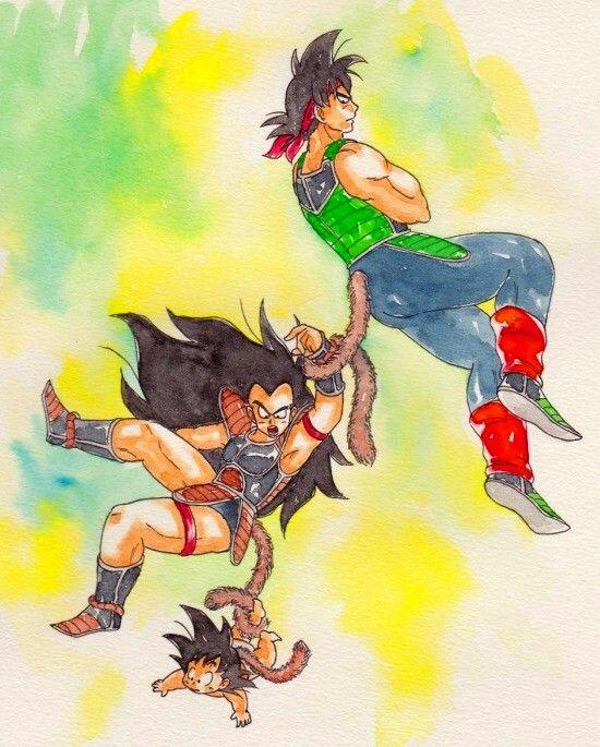 Bardock Hungry Goku Amp Radditz Art By Herumon Dragon Ball