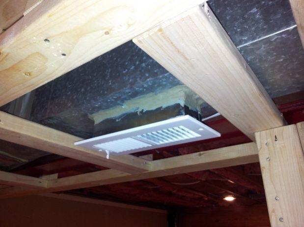 Extending Hvac Vent Through Framing Google Search Ceiling Vents Hvac Basement Ceiling