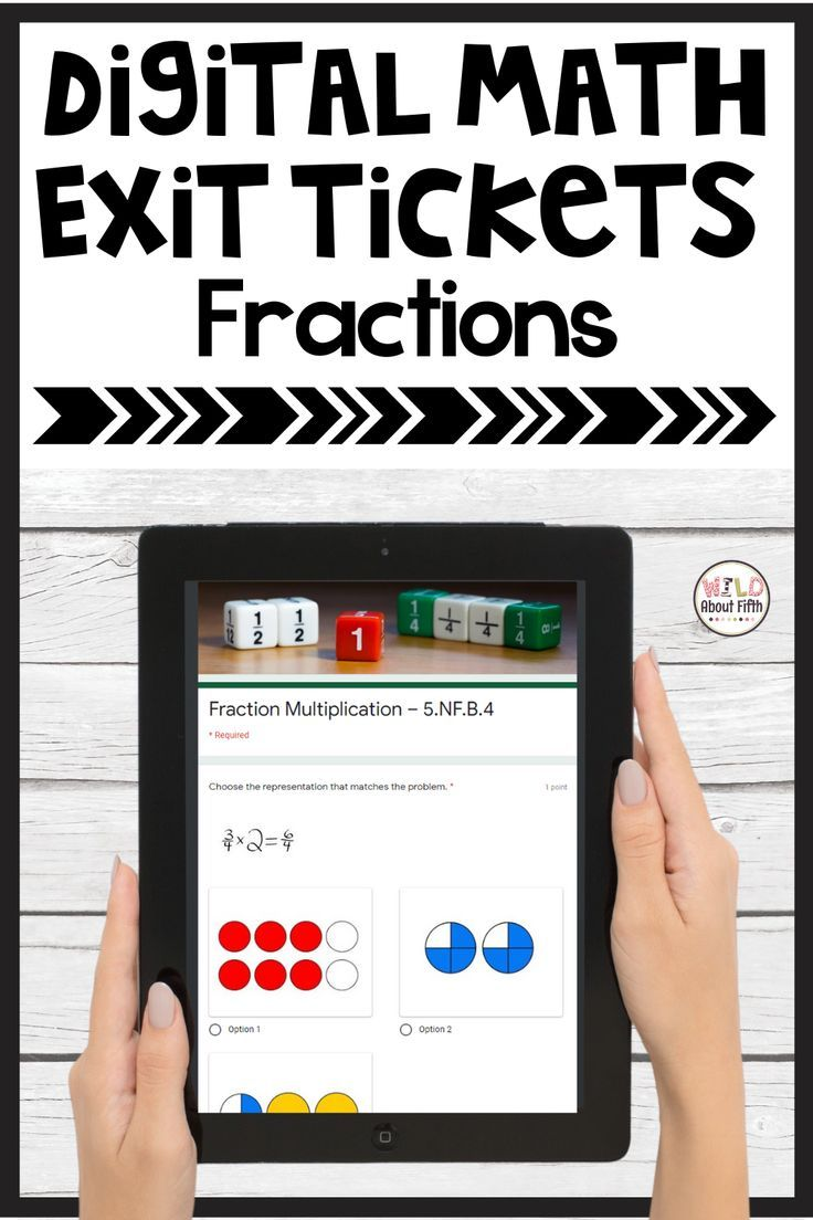 Photo of Fractions Digital Assessment Google Form Exit Tickets, 5th Grade