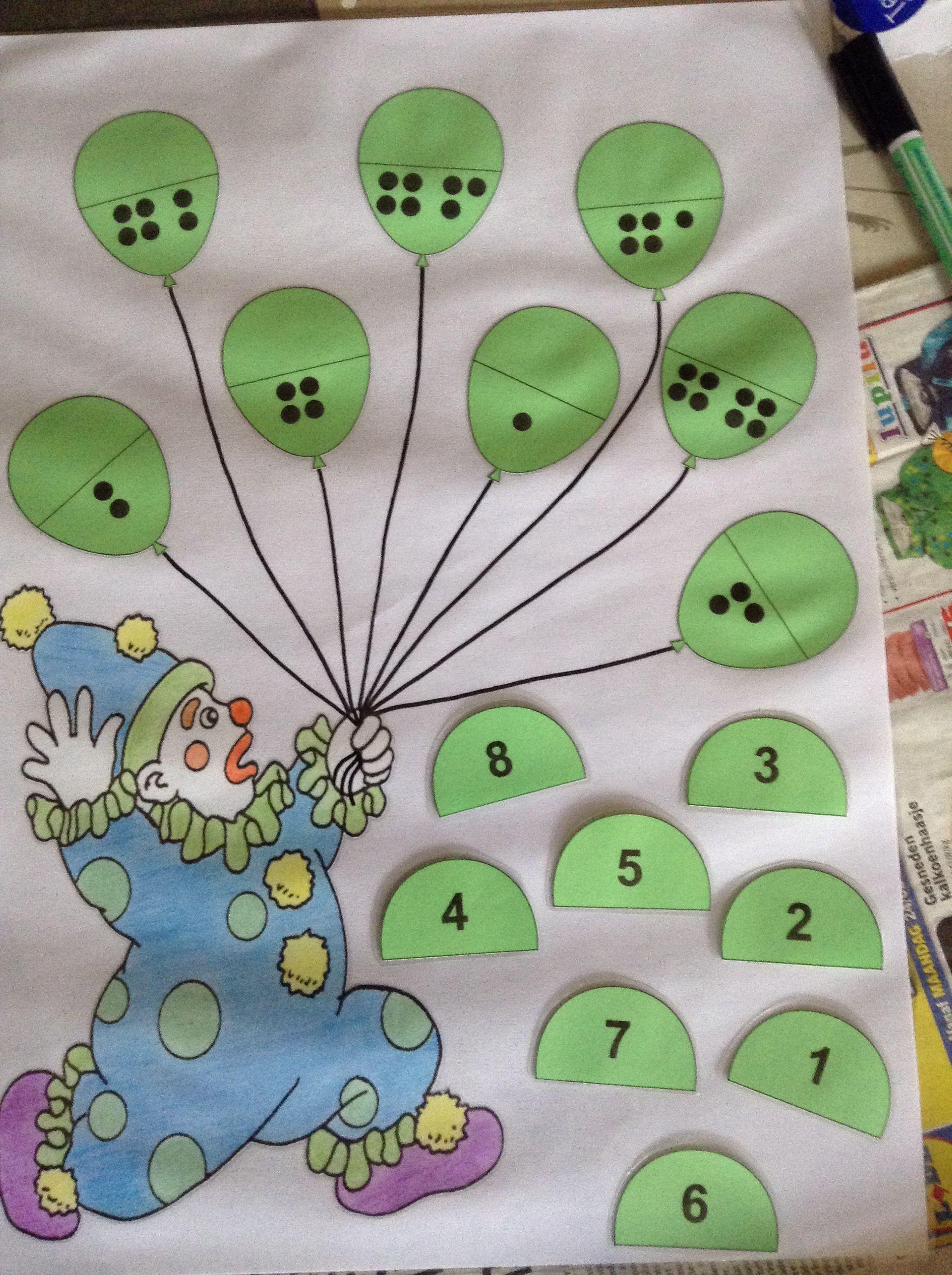 Zoek de juiste helft van de ballonnen | Circus | Pinterest | Math ...