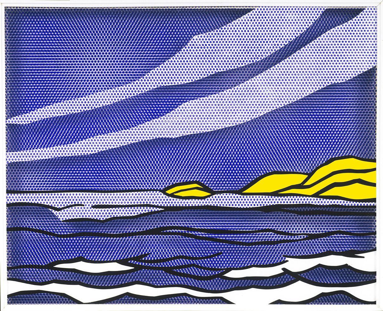 """Roy Lichtenstein, """"Sea Shore"""" 1964"""