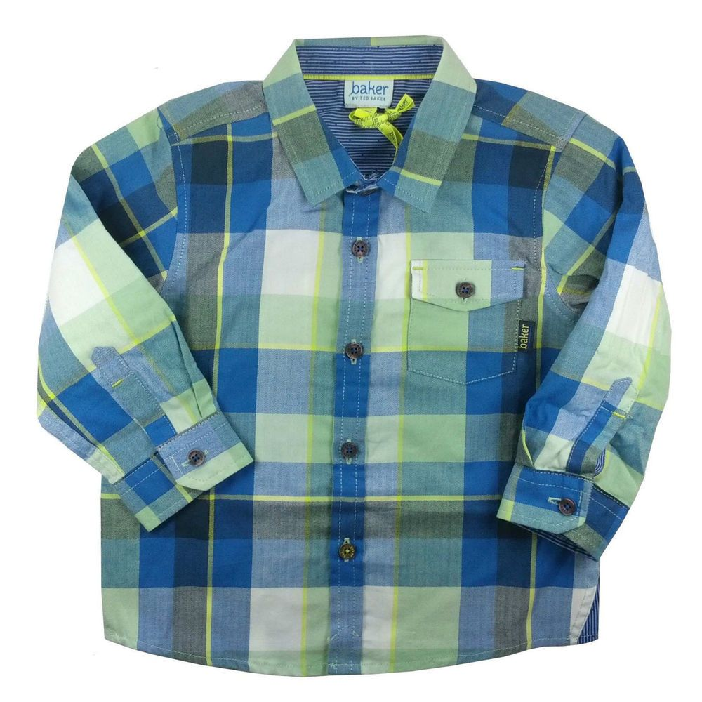 a1c81466f0ab Ted Baker Baby Boys Shirt Classic Checked Smart Green 12-18 Months ...