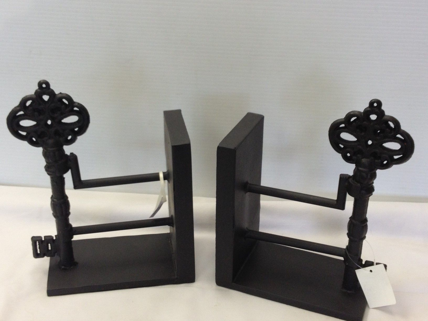 Wonderful key themed wrought iron bookends Bookends