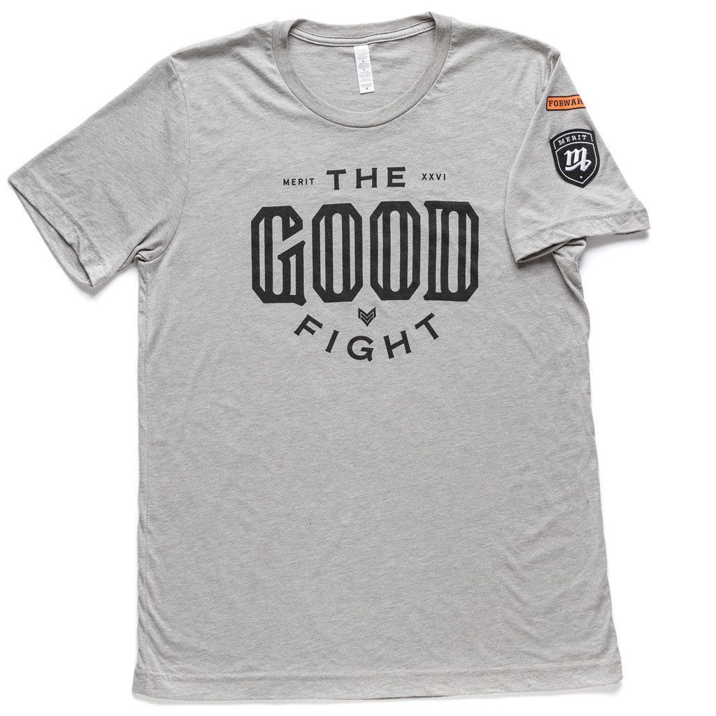 The Good Fight Tee - Gray
