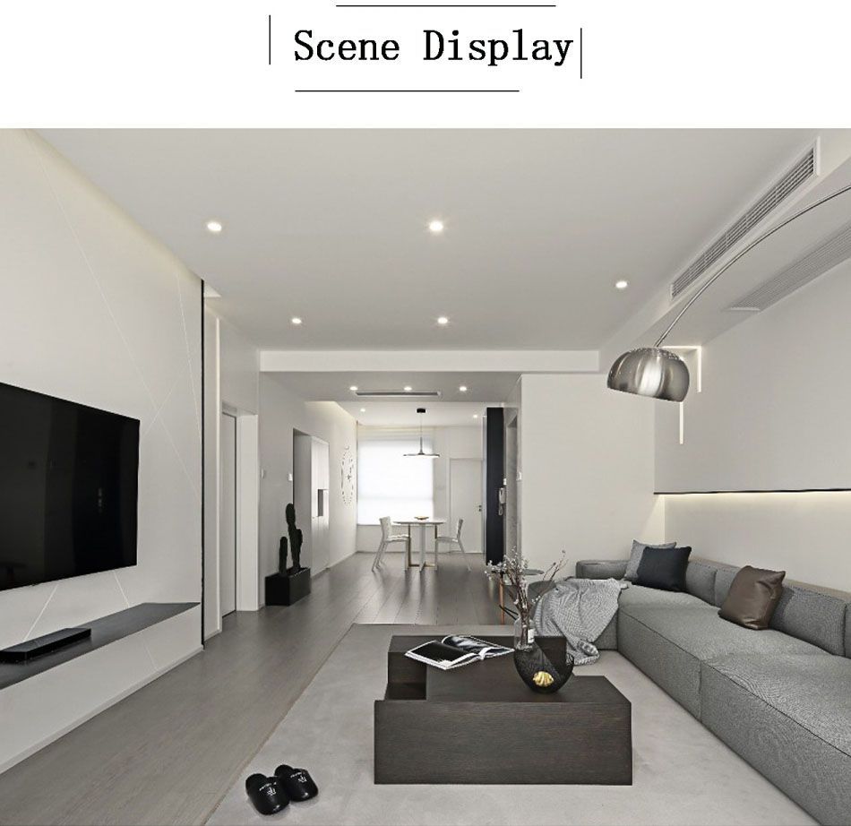 Round Recessed Led Downlight Living Room Tv Unit Designs Living Room Tv Unit Downlights