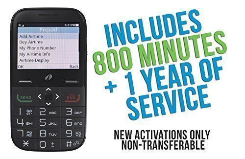 alcatel big easy plus prepaid phone with 800 minutes and