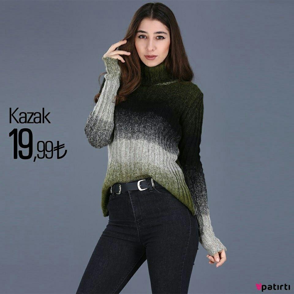 Urun Kodu T2627 Size Ozel Urunler Patirti Com Da Balikci Yaka Renk Gecisli Yesil Kazak Alisveris Moda Style Fashion Shopping S Moda Clothes Shopping