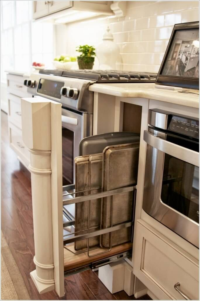 10 Practical Cookie Sheet And Baking Tray Storage Ideas Small