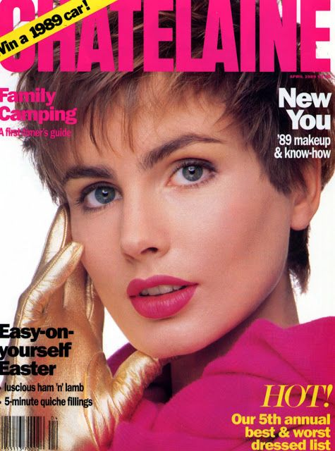 8354a75f857 ALEXA SINGER Chatelaine Cover April 1989 jal scan Cover Girl Makeup