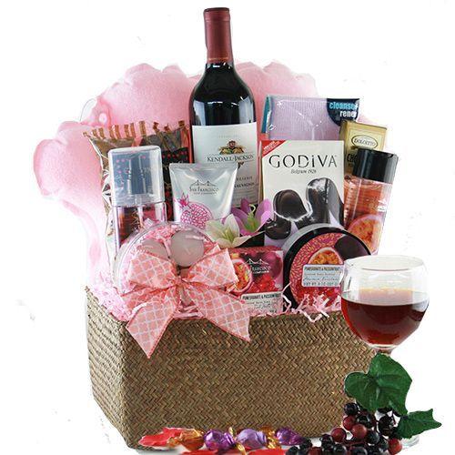 Spa Gift Baskets: Bubbles Wine Gift Basket