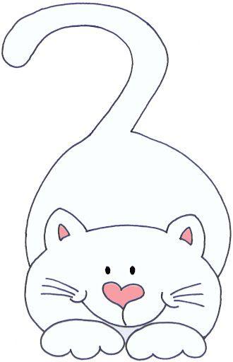 Desenholândia: Molde de gato para eva - Desenho de gato para pintar ...