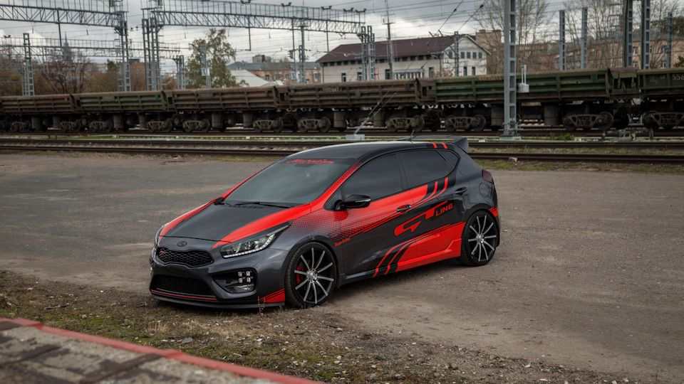 Kia Ceed Gt Line Honda Fit Vinyl Wrap Car Amazing Cars