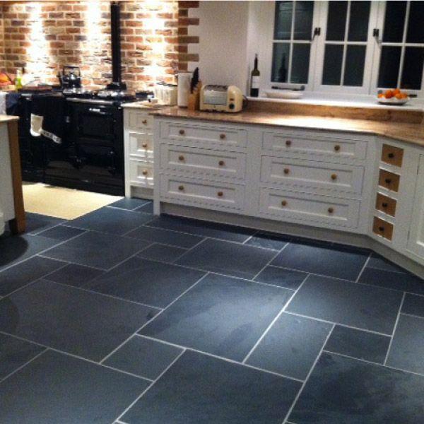 Universal Slate Black Pearl Slate Floor Kitchen Kitchen Floor