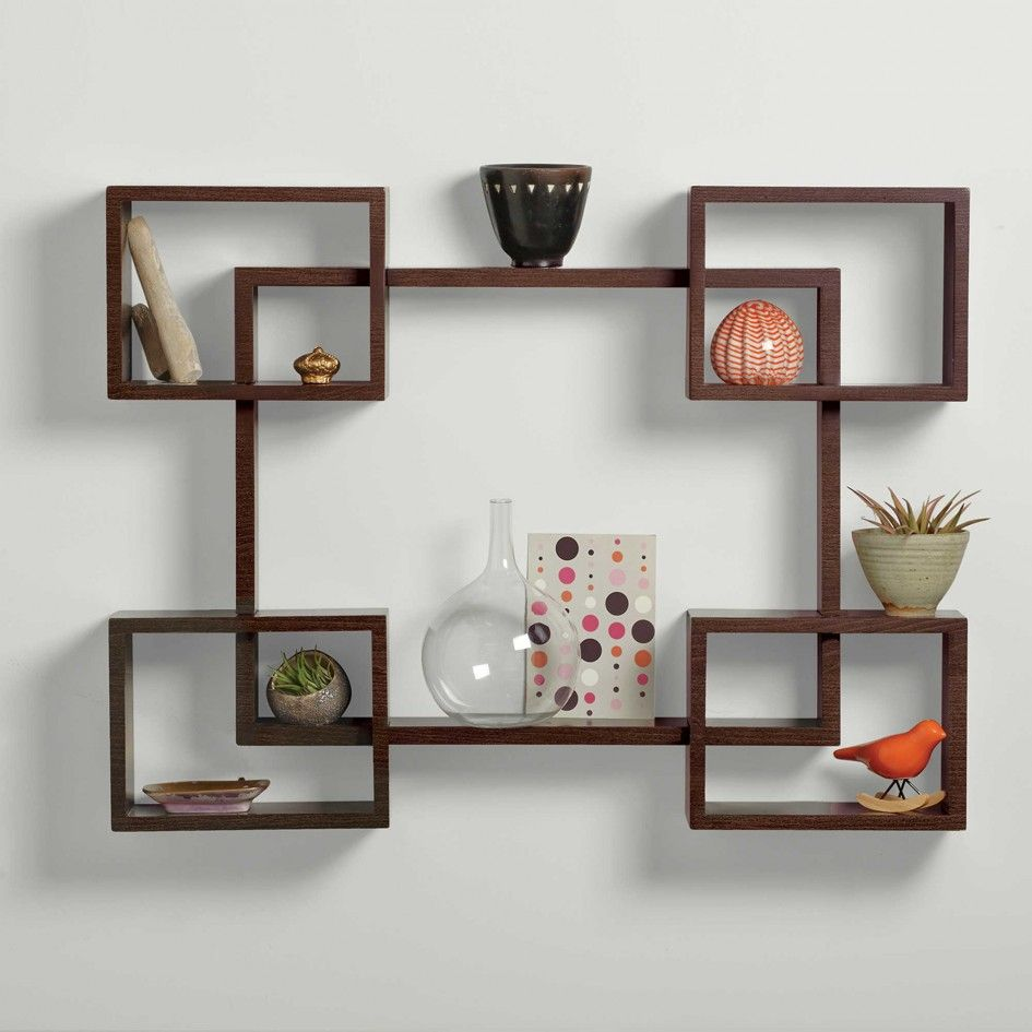 Contemporary Wall Shelves Decorative: Large Decorative Wall Shelves Contemporary Large Size Of Solid Wood Wall Display Bookcase Wall