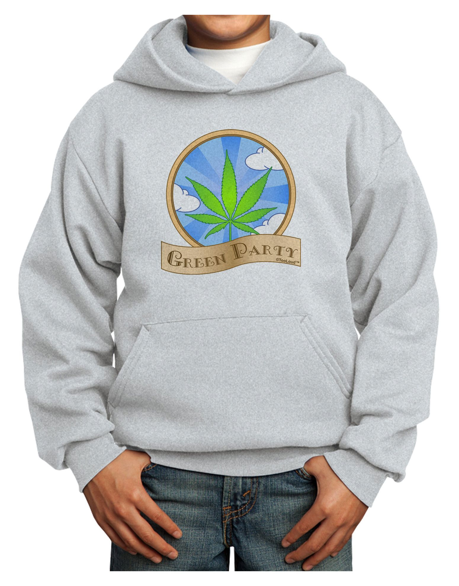 Green Party Symbol Youth Hoodie Pullover Sweatshirt Green Party