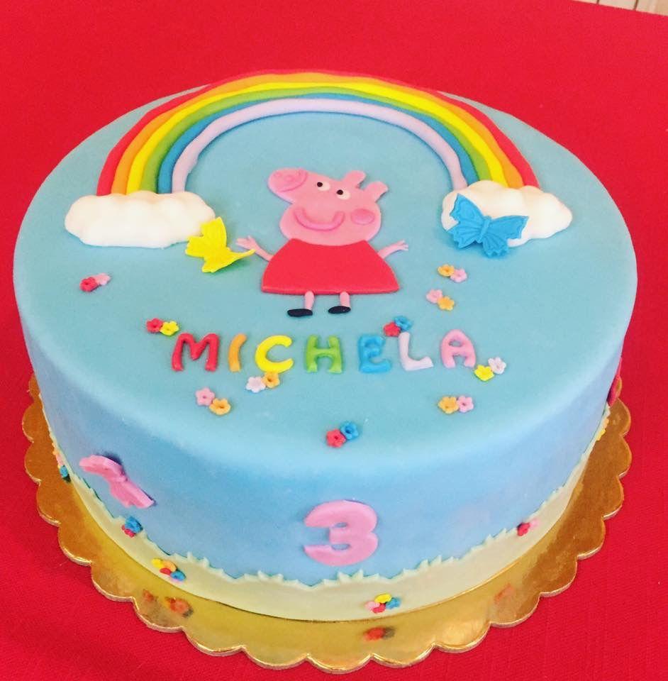 Peppa Pig cake fondant