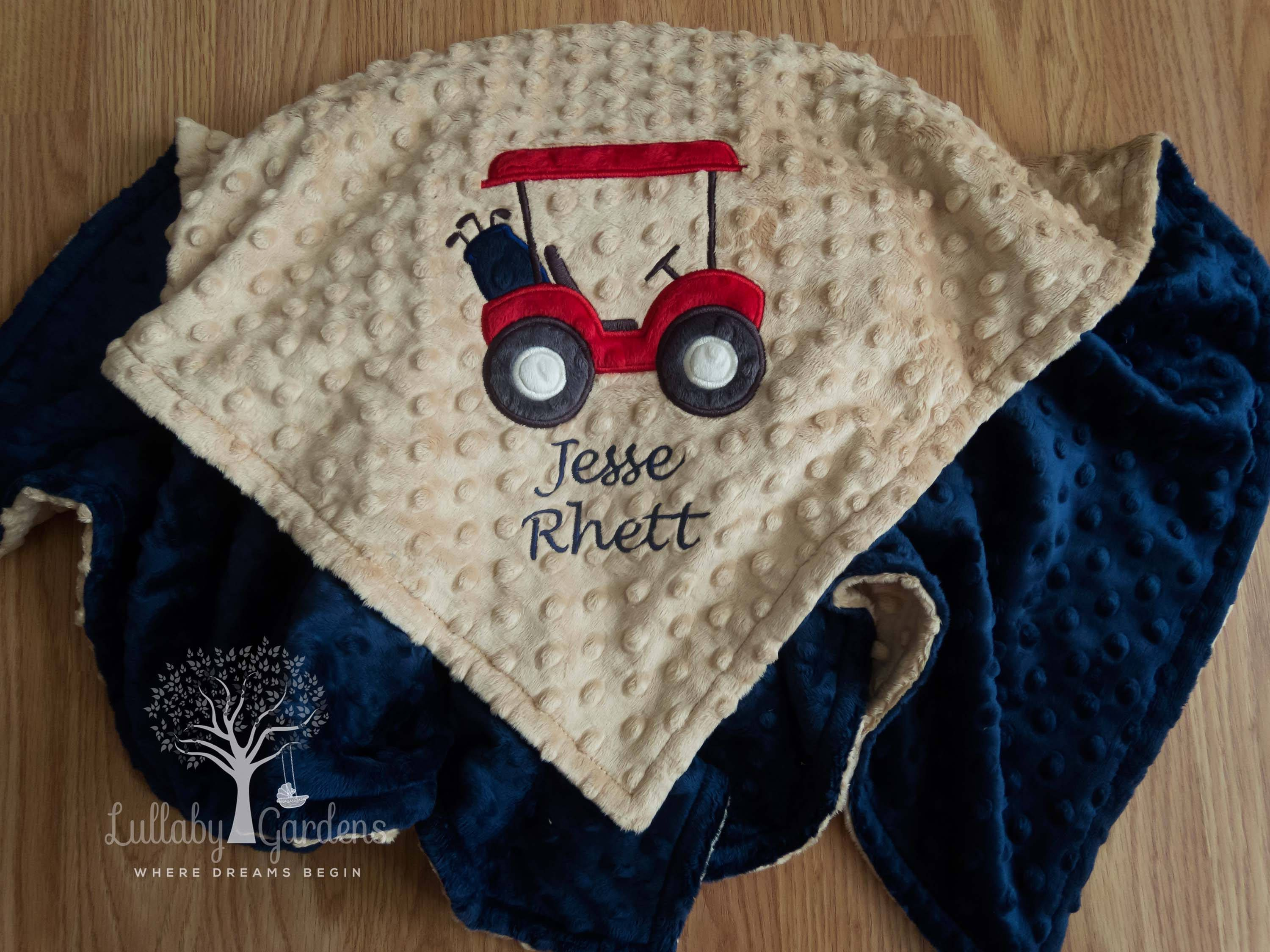 Golf cart personalized minky baby blanket golf cart minky baby golf cart personalized minky baby blanket golf cart minky baby blanket personalized baby boy negle Image collections