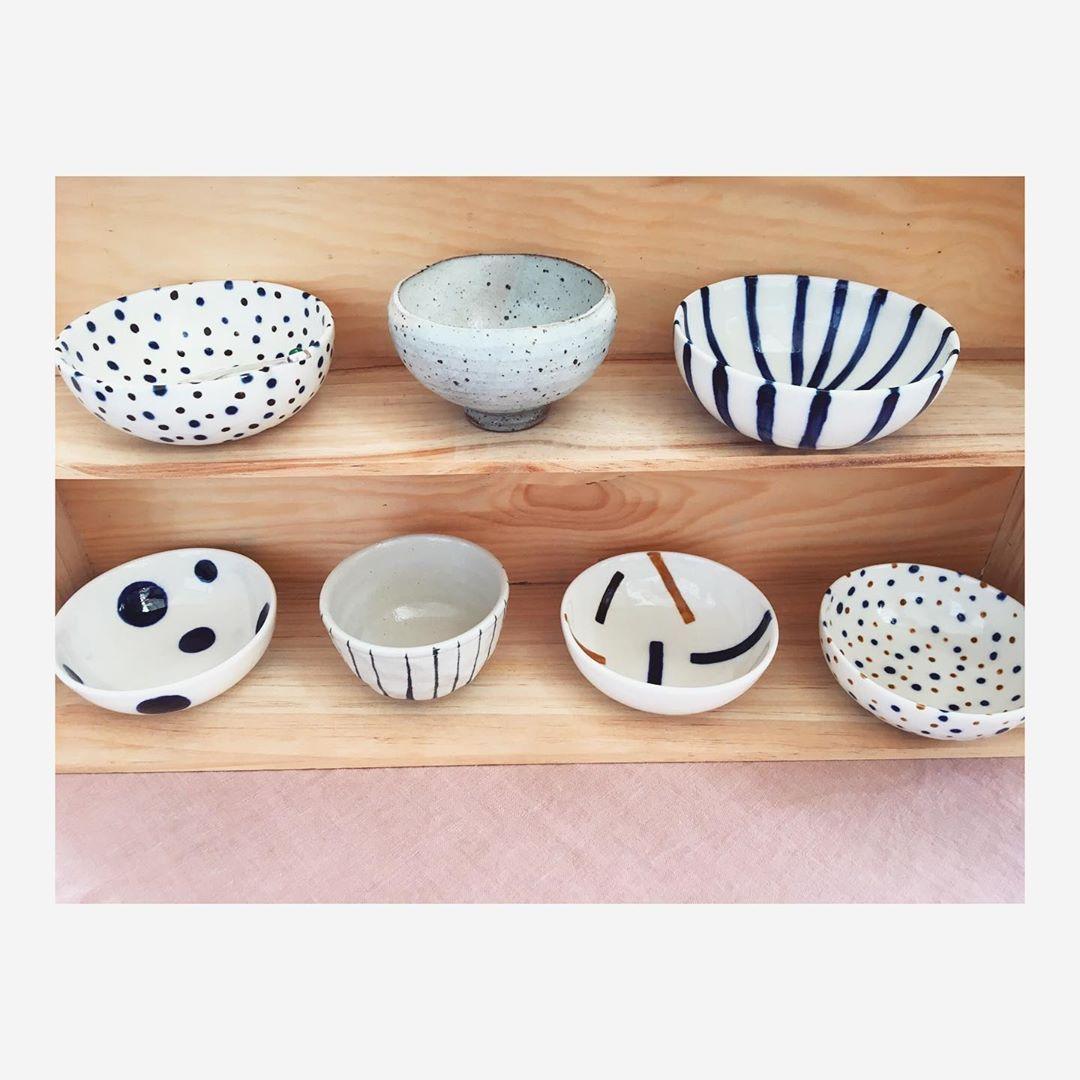 Mixing bowls ✨〰️🥣☁️ . . . #mixingbowls #ceramicwork #ceramicbowls #ceramics #keramik #handdecorated #madeincopenhagen #håndværk #handmade #porcelain #ceramicstudio #interiør #living