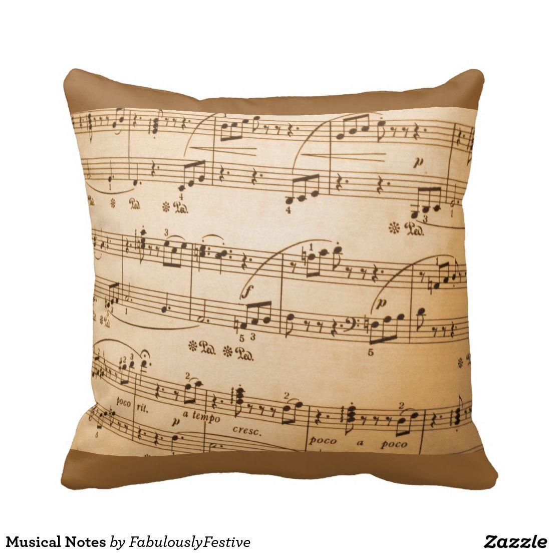 Musical Notes Cushion