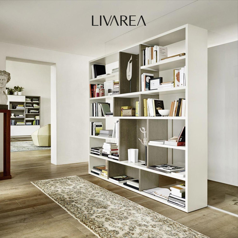 Livitalia Raumteiler Bücherregal C87 Bücherregal Raumteiler Raumteiler Bücherregal
