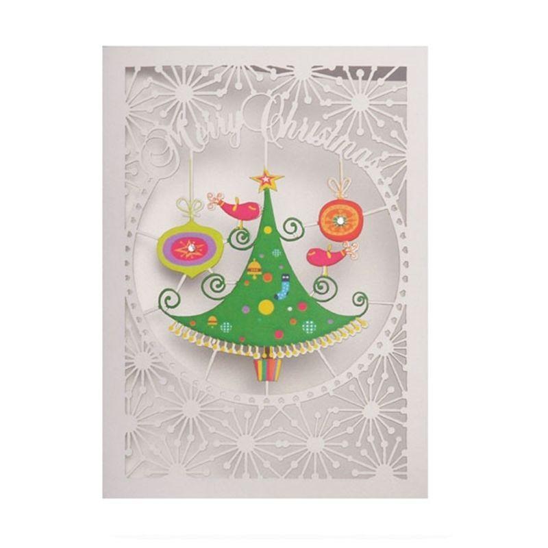 Premium Beautiful Handmade Design Laser Cut Christmas Card Christmas ...
