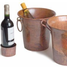 Orion C15 R 9 Rustic Copper Wine Bucket Ring Handles Pc Buckets Stands Coolers Werstrom Restaurant Supply